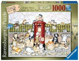 1000 Pieces - Crazy Cats Lost in the Post - Ravensburger Puzzle