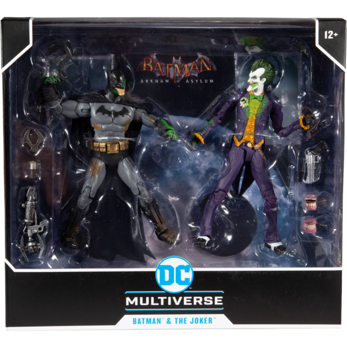 "Batman Arkham Asylum - Batman vs Joker - 7"" 2 Pack Figurines"
