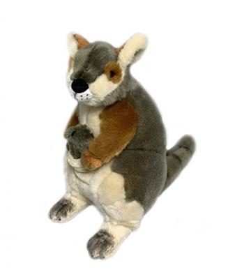 Wattle - Rock Wallaby W/Joey - 30cm - Plush Animals - Bocchetta