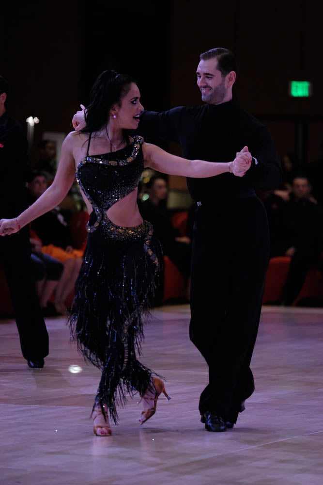 Esmeralda Gallemore with ballroom dance partner 7201