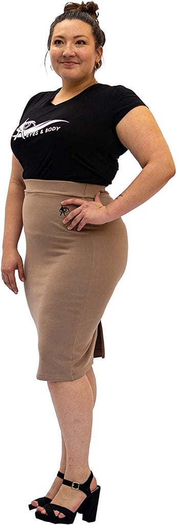 Eyes And Body Biege Sexy Pencil Skirt