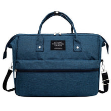 Load image into Gallery viewer,  blue diaper bag