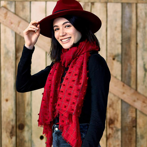 Garnet Knotted Scarf