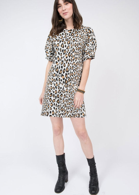 Leopard Knit Swing Dress