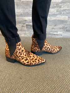 Leopard Slip On Ankle Bootie