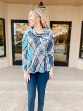 Load image into Gallery viewer, River Oaks Petite Cowl Neck Top