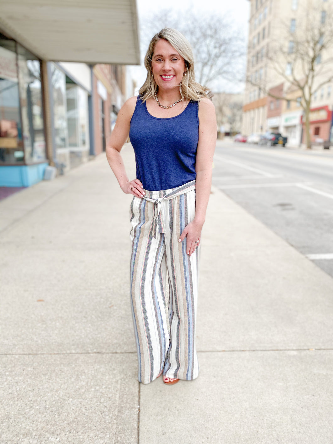 MultiColored Striped Flare Pants