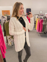 Load image into Gallery viewer, Ivory Cable Knit Cardigan