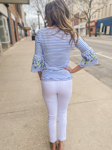 White Flatten It Legging w/ Cuff