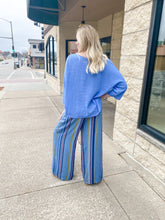 Load image into Gallery viewer, Blue Striped Pants