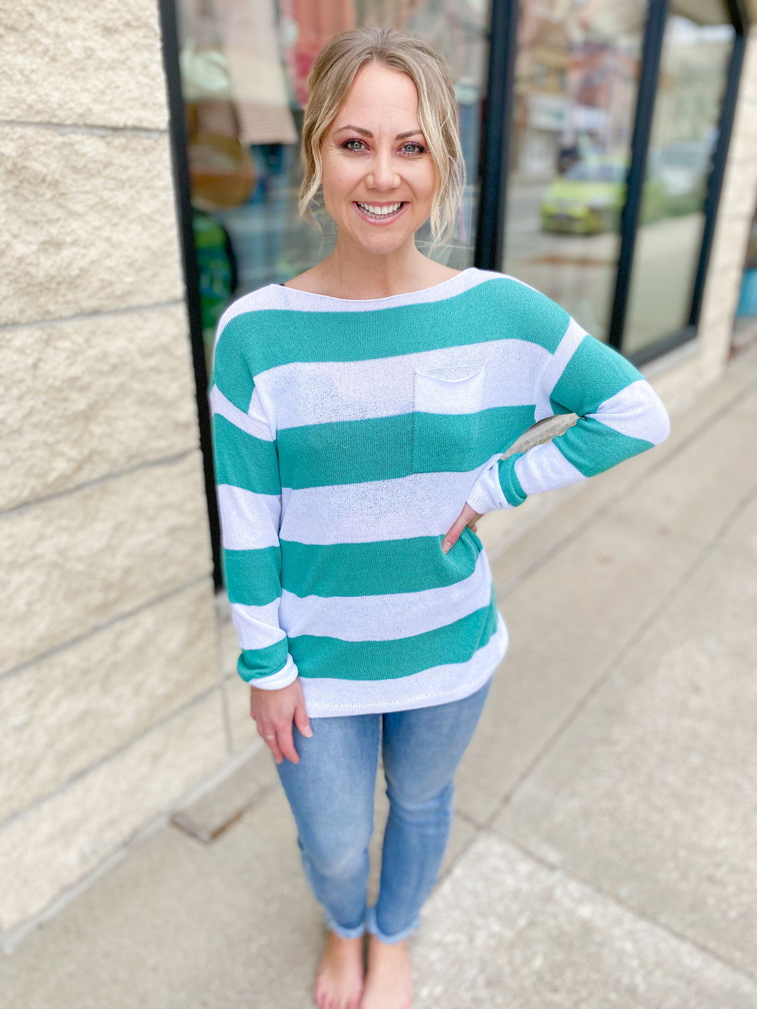 Charlie B. Caicos Stripe Knit Sweater