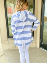 Load image into Gallery viewer, Linen Striped Hooded Jacket