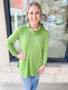 Fern 3/4 Sleeve Cowel Neck Top