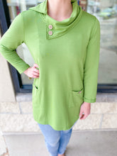 Load image into Gallery viewer, Fern 3/4 Sleeve Cowel Neck Top