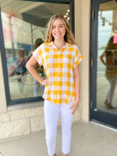 Load image into Gallery viewer, Yellow Gingham Top