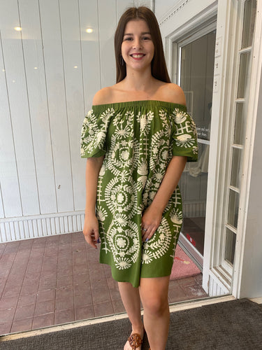 Ivy Jane Crewel Embroidery Dress