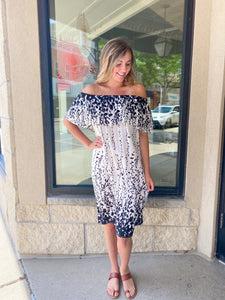 Black/White Woven Dress