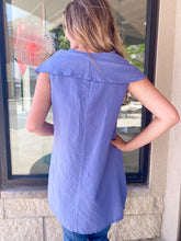 Load image into Gallery viewer, Blue Linen Sleeveless Top