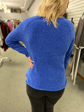 Load image into Gallery viewer, Blue Chenille Sweater