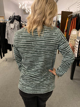 Load image into Gallery viewer, Sage Narrow Stripes Tee