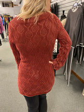 Load image into Gallery viewer, Red Cable Tunic Sweater