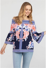 Load image into Gallery viewer, Printed Off Shoulder Top