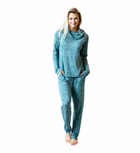 Load image into Gallery viewer, CareFree Threads Mint Lounge Pants