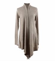 Load image into Gallery viewer, Carefree Threads Oatmeal Flyaway Cardigan