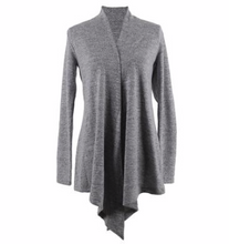 Load image into Gallery viewer, Carefree Threads Light Grey Flyaway Cardigan