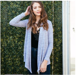 Carefree Threads Light Grey Flyaway Cardigan
