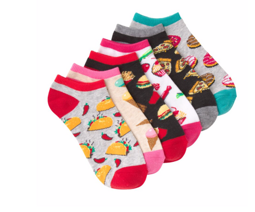 KBell 6-Pack Foods Socks