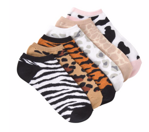 KBell 6-Pack Animal Print Socks