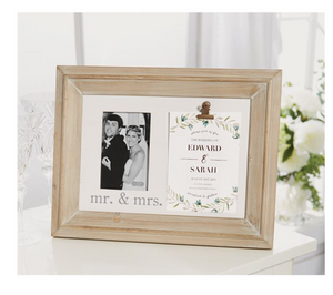 Mr. & Mrs. Invitation and Picture Frame