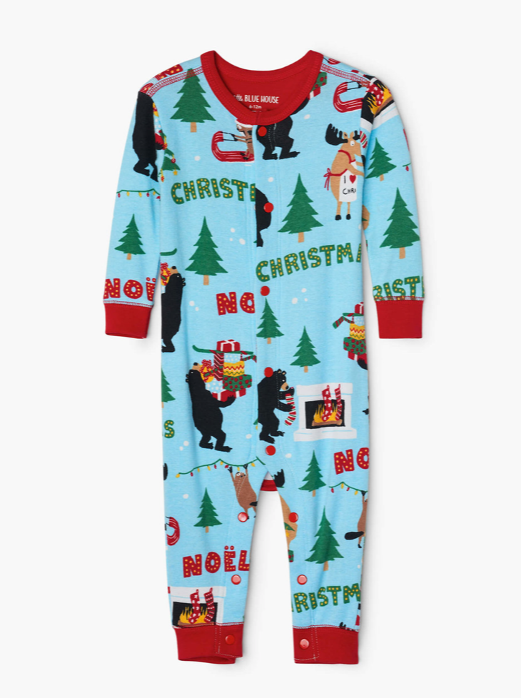 Wild About Christmas Baby Union Suit