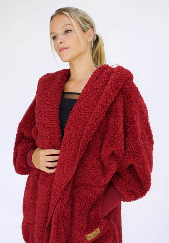 Nordic Beach Sweater - Red Velvet