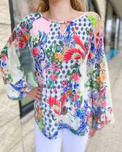 Load image into Gallery viewer, Printed Plisse Blouse