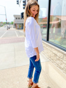 Asymmetrical White Top