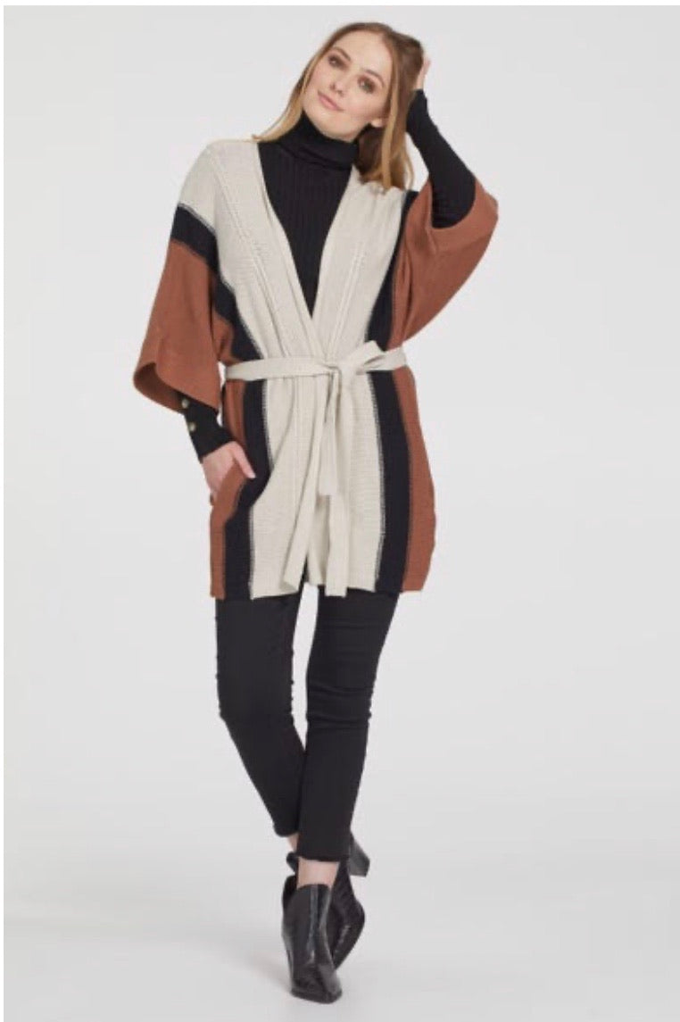 Black/Brown Cardigan