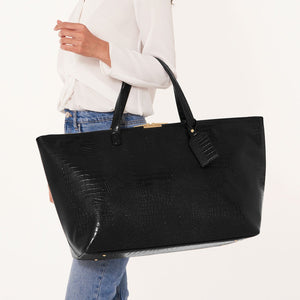 Celine Faux Croc Travel Bag