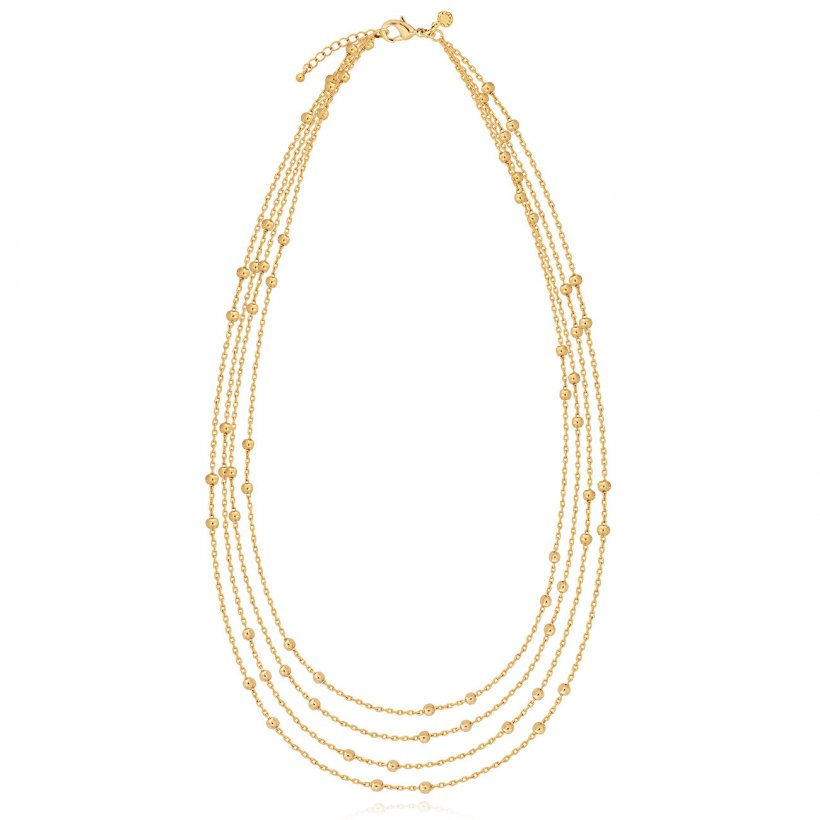 Alisa Gold Multi Chain Necklace