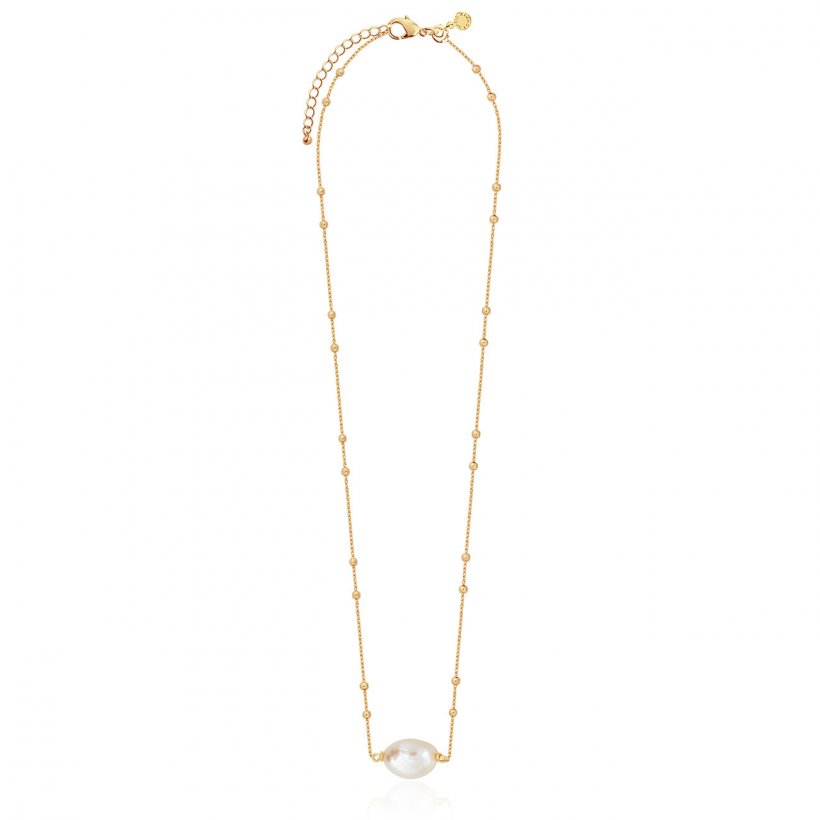 ISLA GOLD PEARL SHORT PENDANT NECKLACE