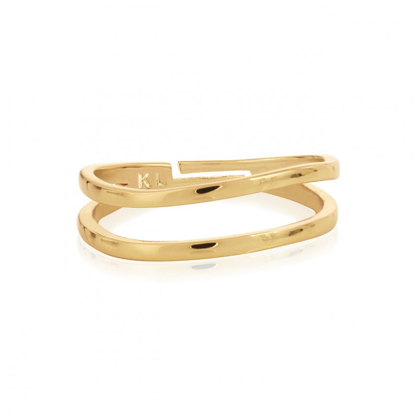 ISLA GOLD PEARL DOUBLE BAND RING