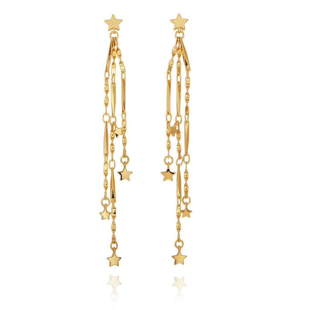 Magic Is Something You Make Star Dangle Earrings