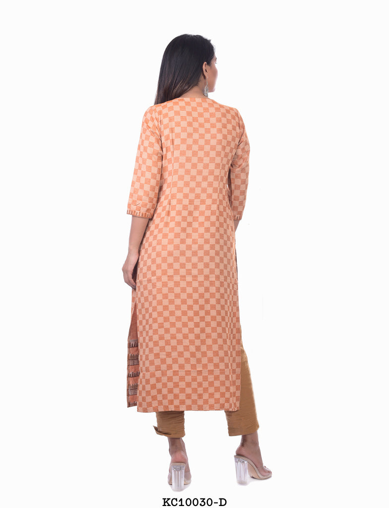 Light Orange stripped Kurta
