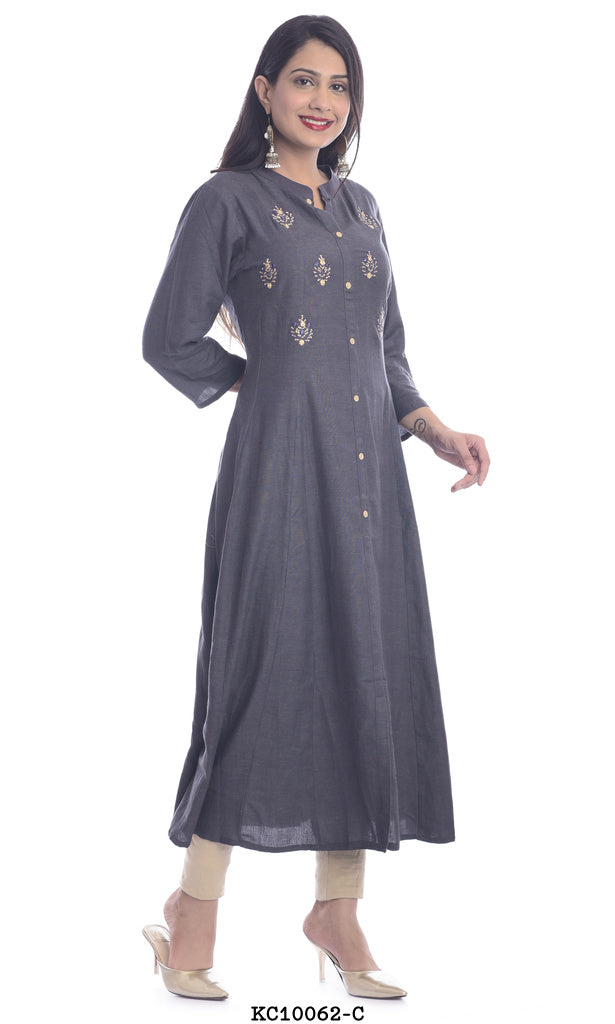Women's High neck Anarkali kurti