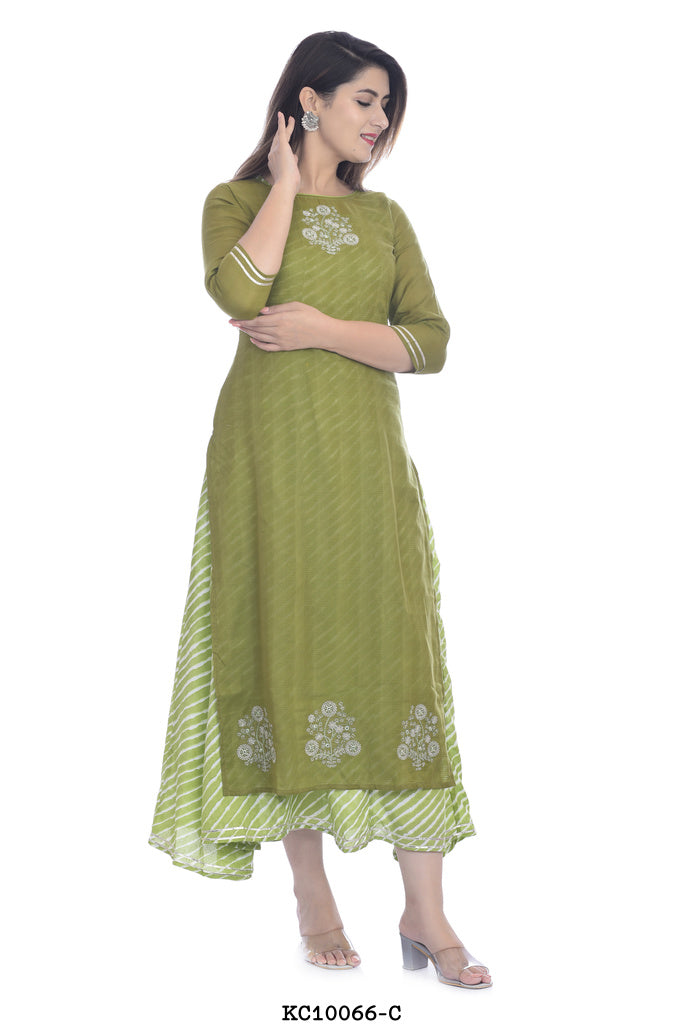 Green Multilayer kurta