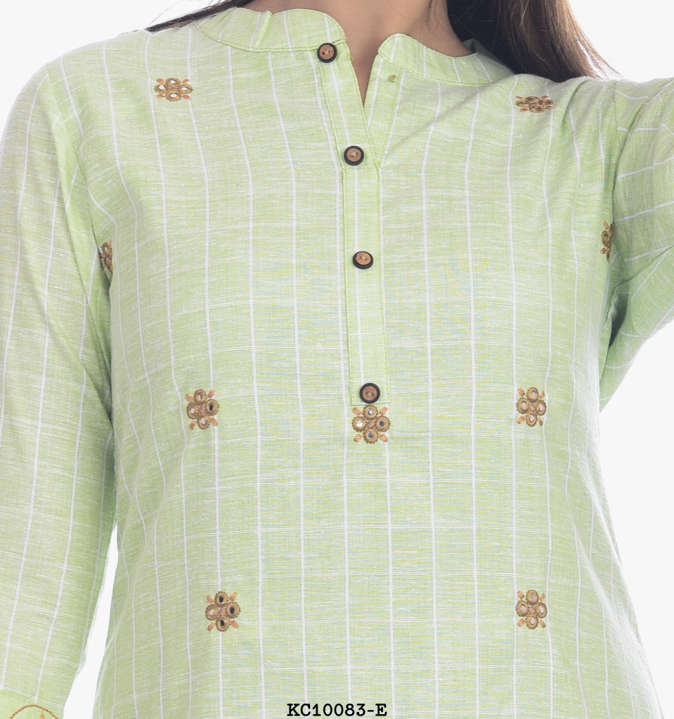 Light Green Round Neck Kurta