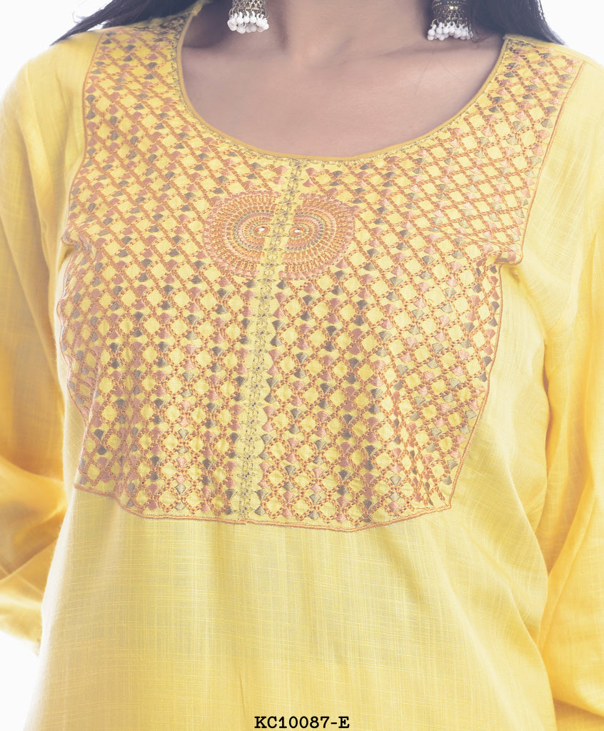 Women's Yellow Straight Kurta