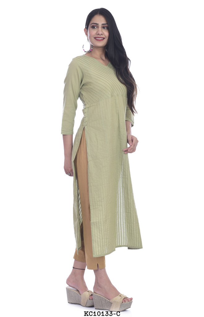 Light Green Simple Straight Kurta