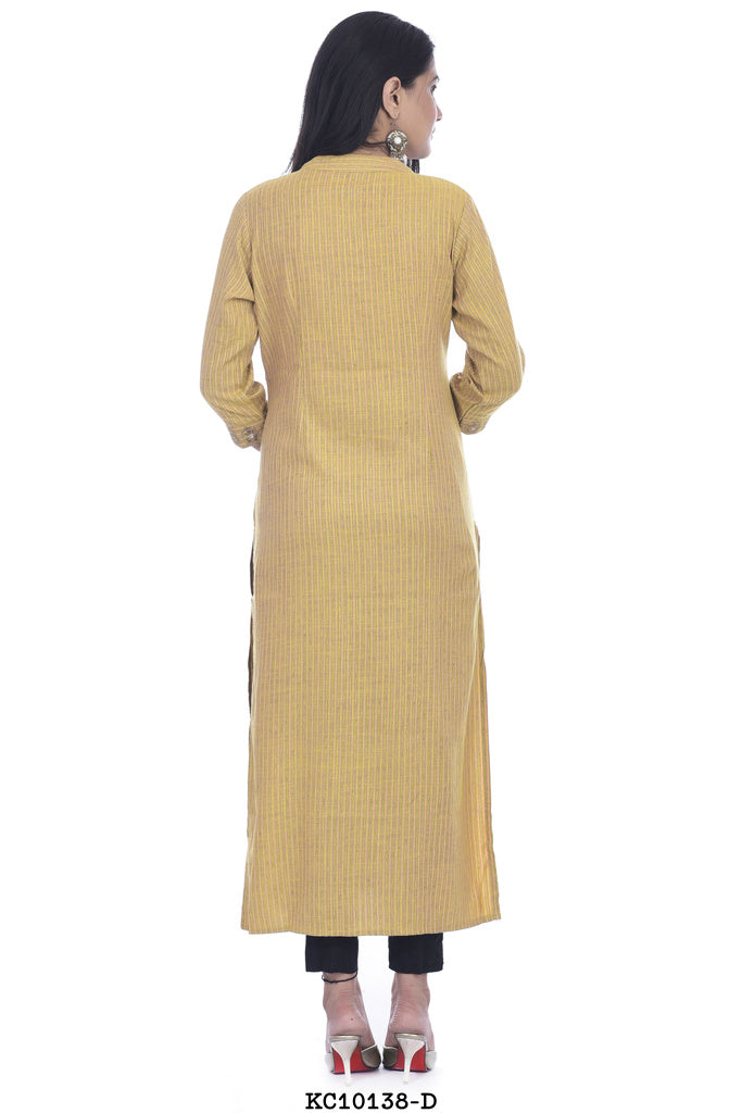 Light yellow printed kurti